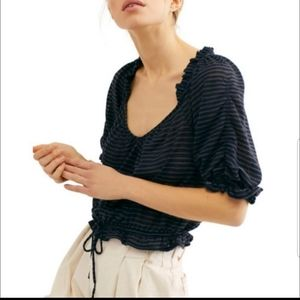 NWT Free People Dorothy Puff Sleeve Top XS